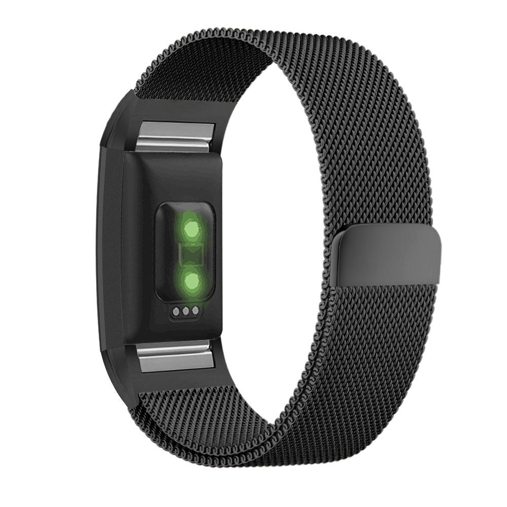 fitbit charge 2 band with milanese loop stainless steel metal bracelet strap and unique magnet. Black Bedroom Furniture Sets. Home Design Ideas