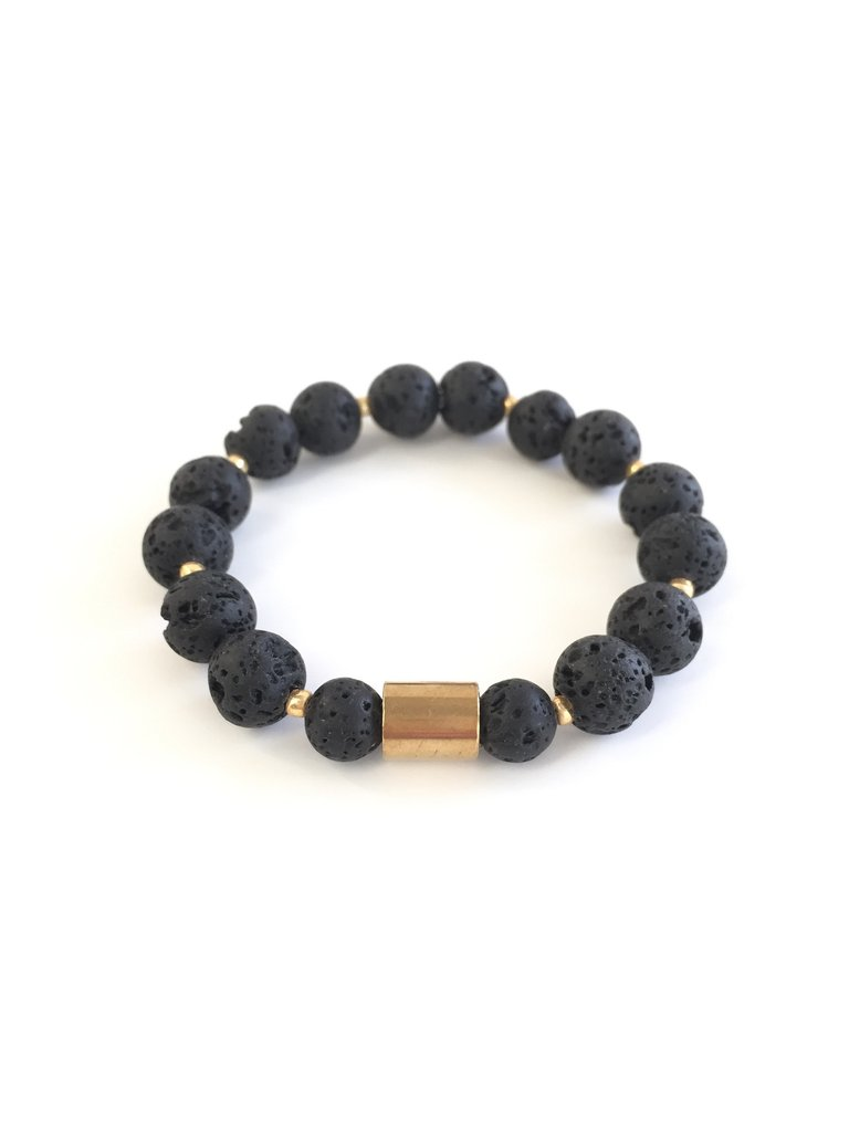 bracelet beads natural bangle men jewelry product for stone stretch yoga new lava women bead