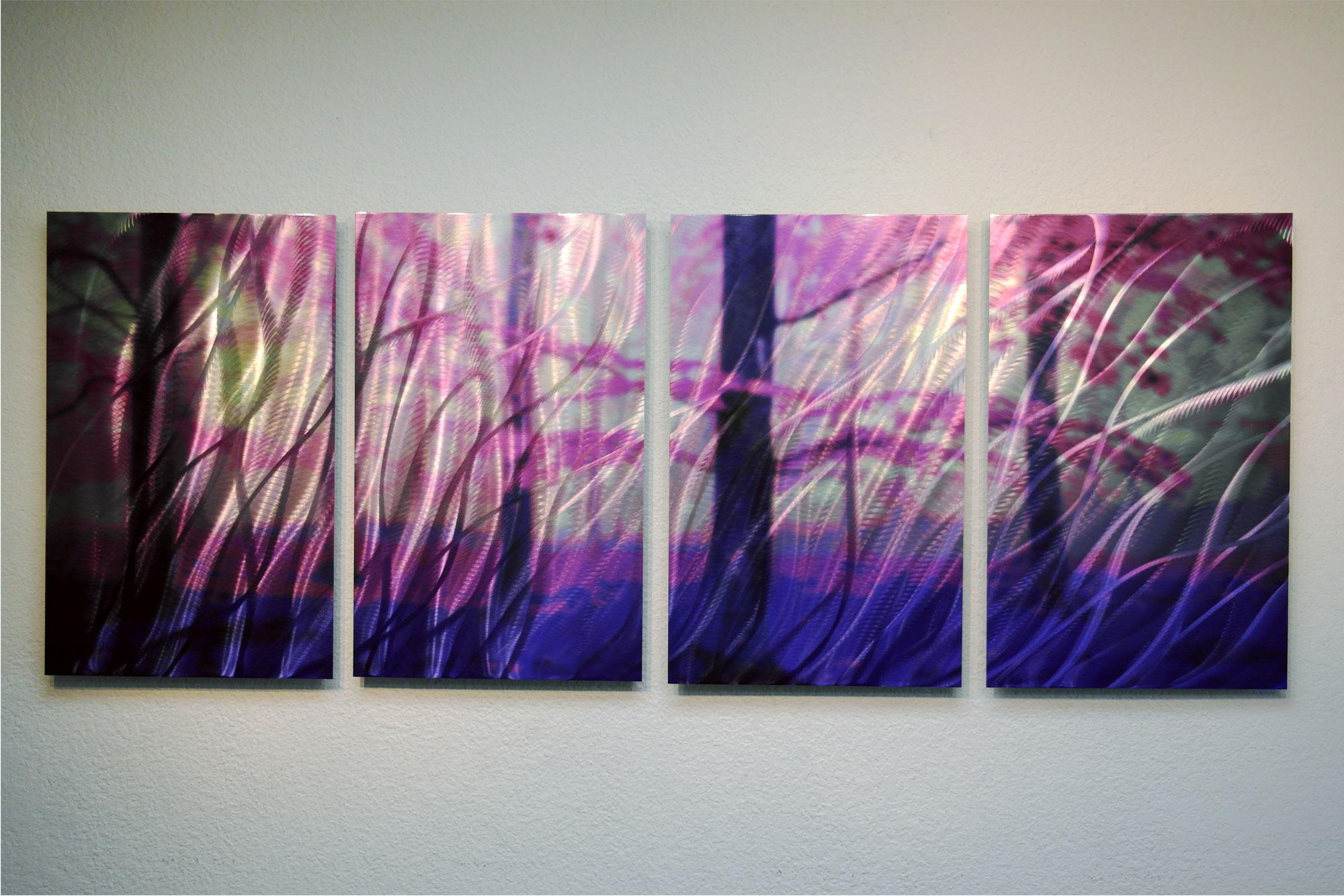 Purple Metal Wall Art cherry blossom 24 - metal wall art abstract sculpture modern decor