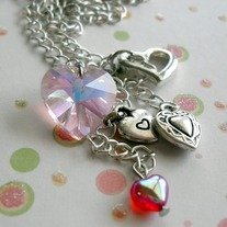 Heart Collage Necklace