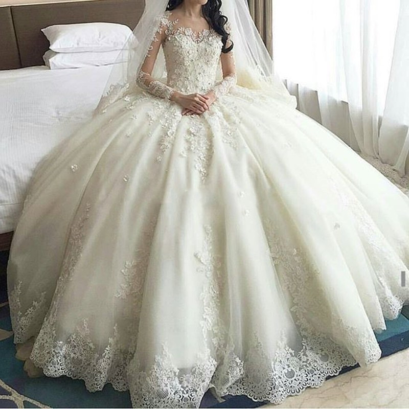 P114 2016 abiti da sposa Romantic Ball Gown China Wedding Dresses ...