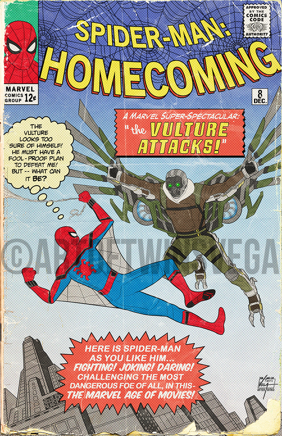 Spider-Man: Homecoming Vintage Cover · The Art of ...