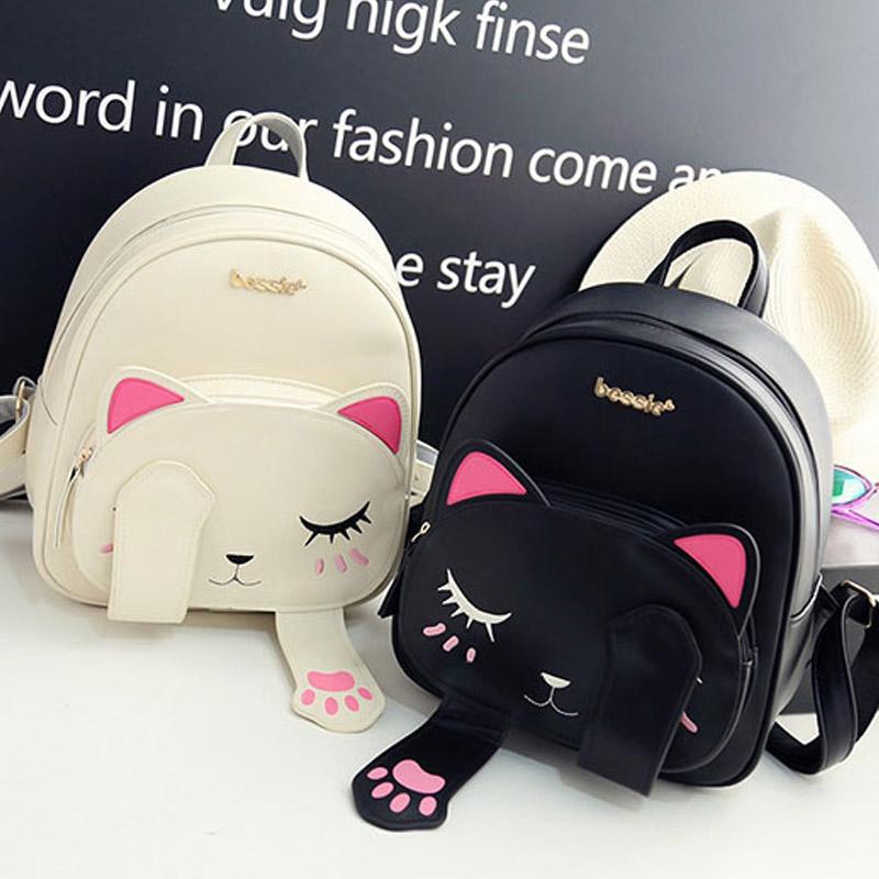 kawaii clothing mochila gato cat backpack wh276. Black Bedroom Furniture Sets. Home Design Ideas