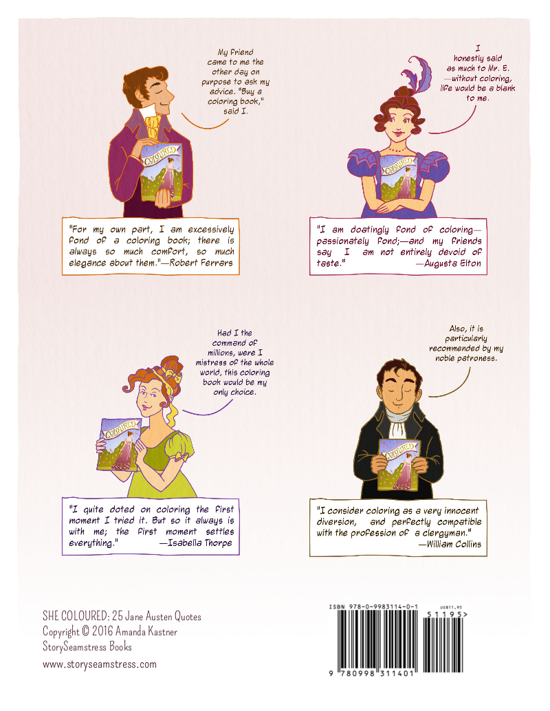 Shop | StorySeamstress: *DISCOUNT* Coloring Book: 25 Jane Austen Quotes