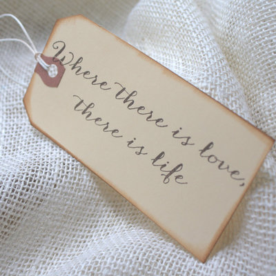 Wishing tree tags - set of 10 - where there is love design