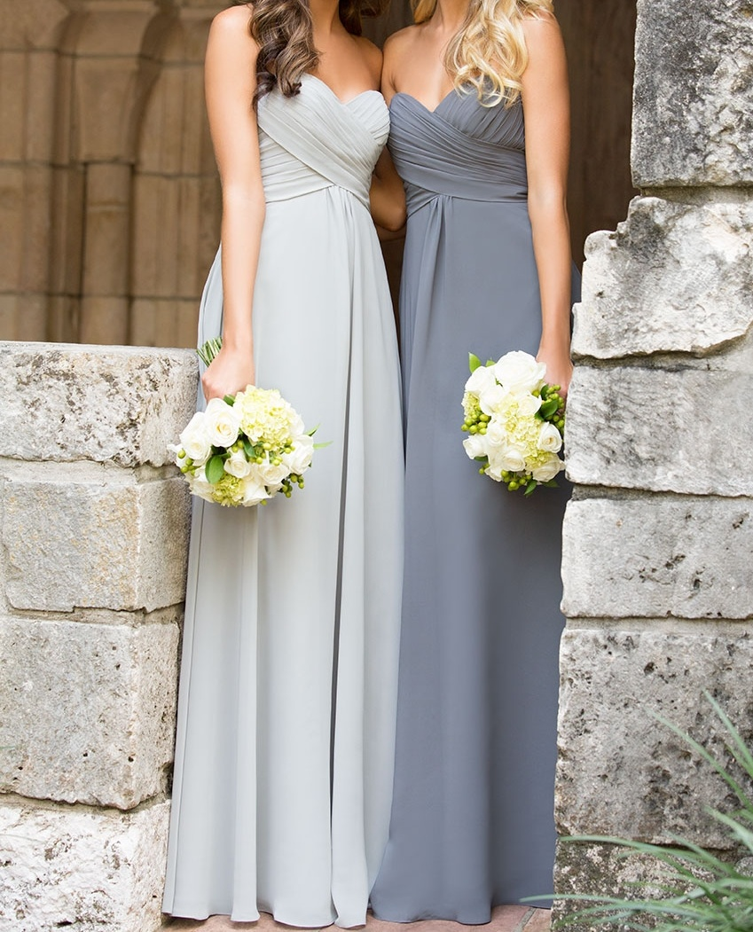A line empire waist sweetheart silver chiffon long bridesmaid a line empire waist sweetheart silver chiffon long bridesmaid dresscustom made gray cheap bridesmaid ombrellifo Images