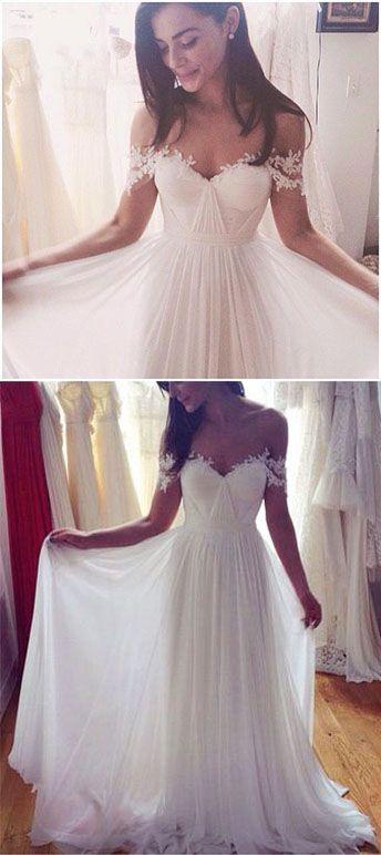 New Arrival Wedding Dress,Charming A-Line Wedding Dresses,Long ...