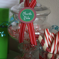 Printable North Pole Circle Labels