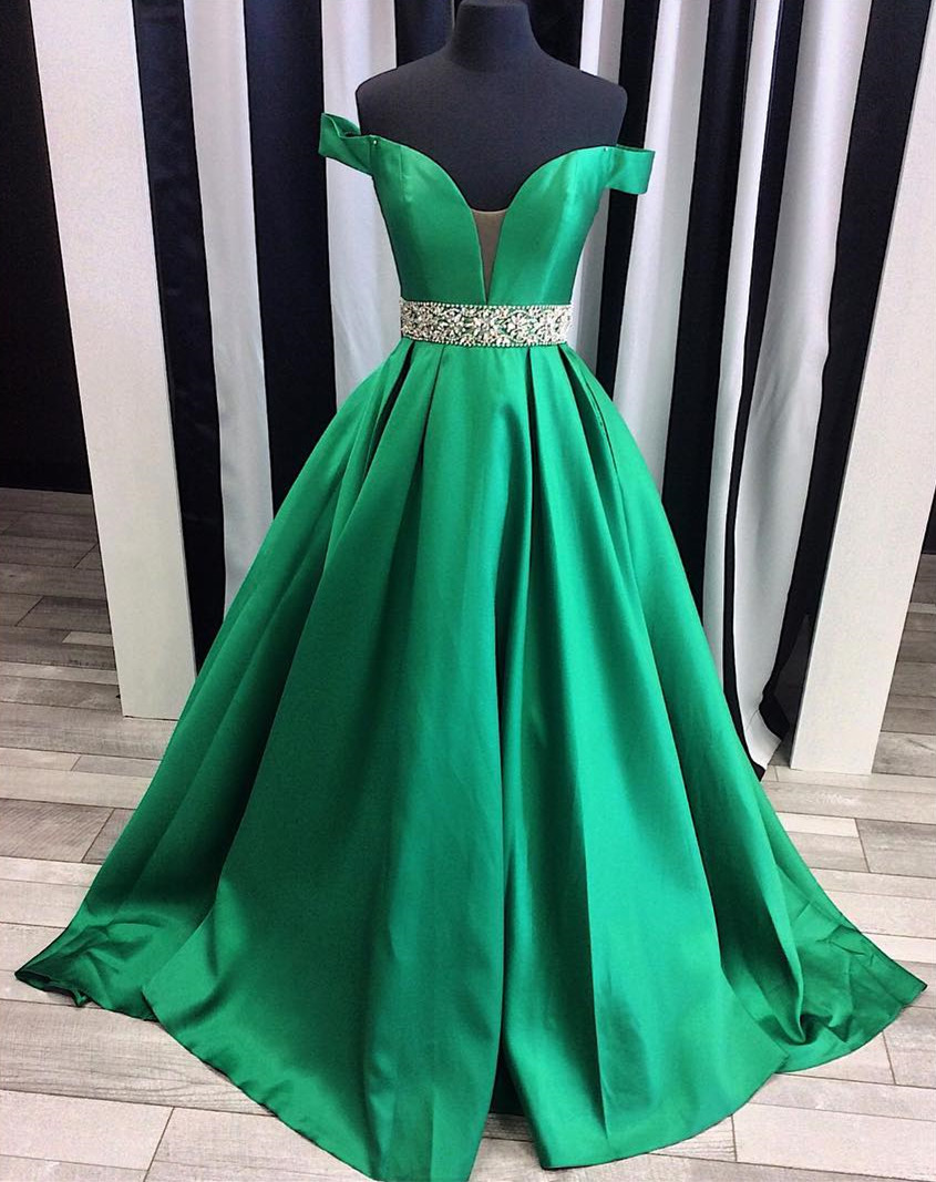 A399 sexy off the shoulder satin ball gowns prom evening dresses ...