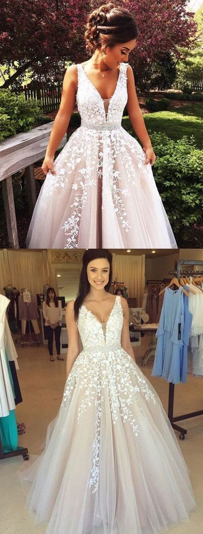 Elegant Wedding Dress,Tulle Wedding Dresses with Beaded,Ball Gown ...