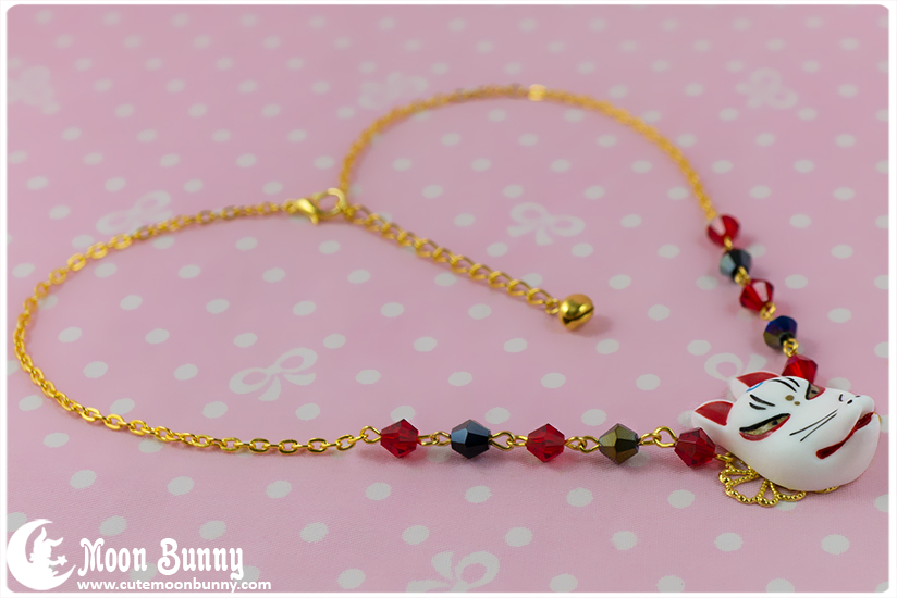 moon bunny kitsune mask necklace store powered