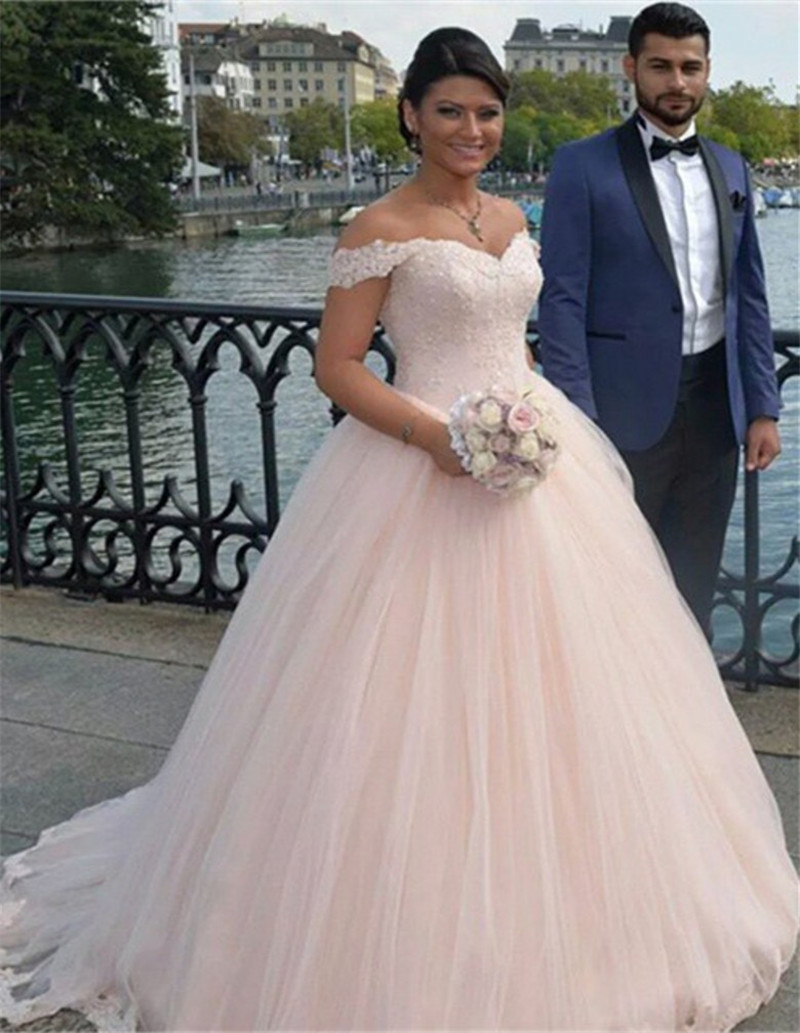A446 Off the Shoulder Ball Gown Wedding Bridal Gowns, Plus Size ...