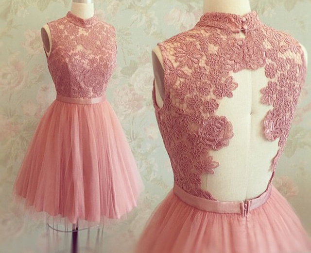 H44 Chiffon lace prom dresses, Beach wedding dresses, Sexy Wedding ...