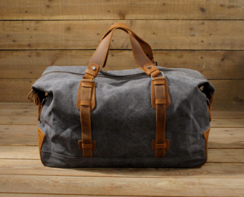 Waxed Canvas Duffle Bag Weekend Bag Duffel Bag Men