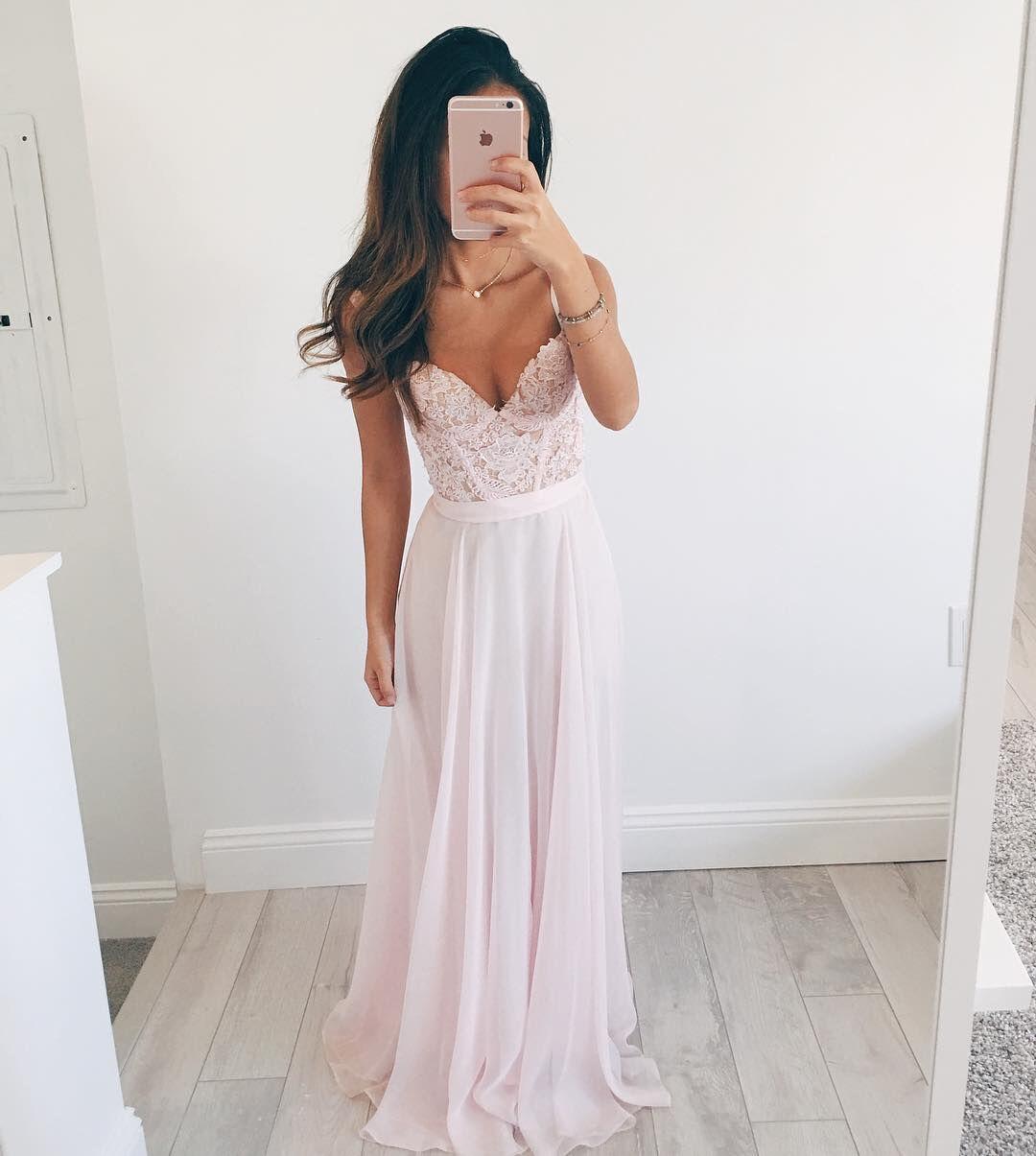 sweetheart chiffon prom dresses