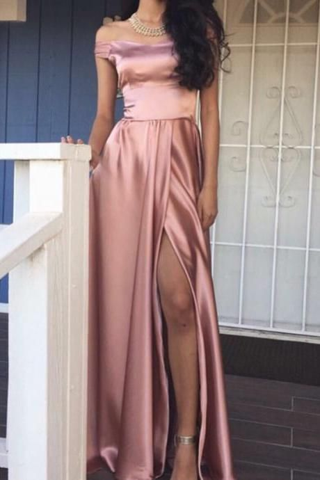 Pink Long Prom Dress 2018