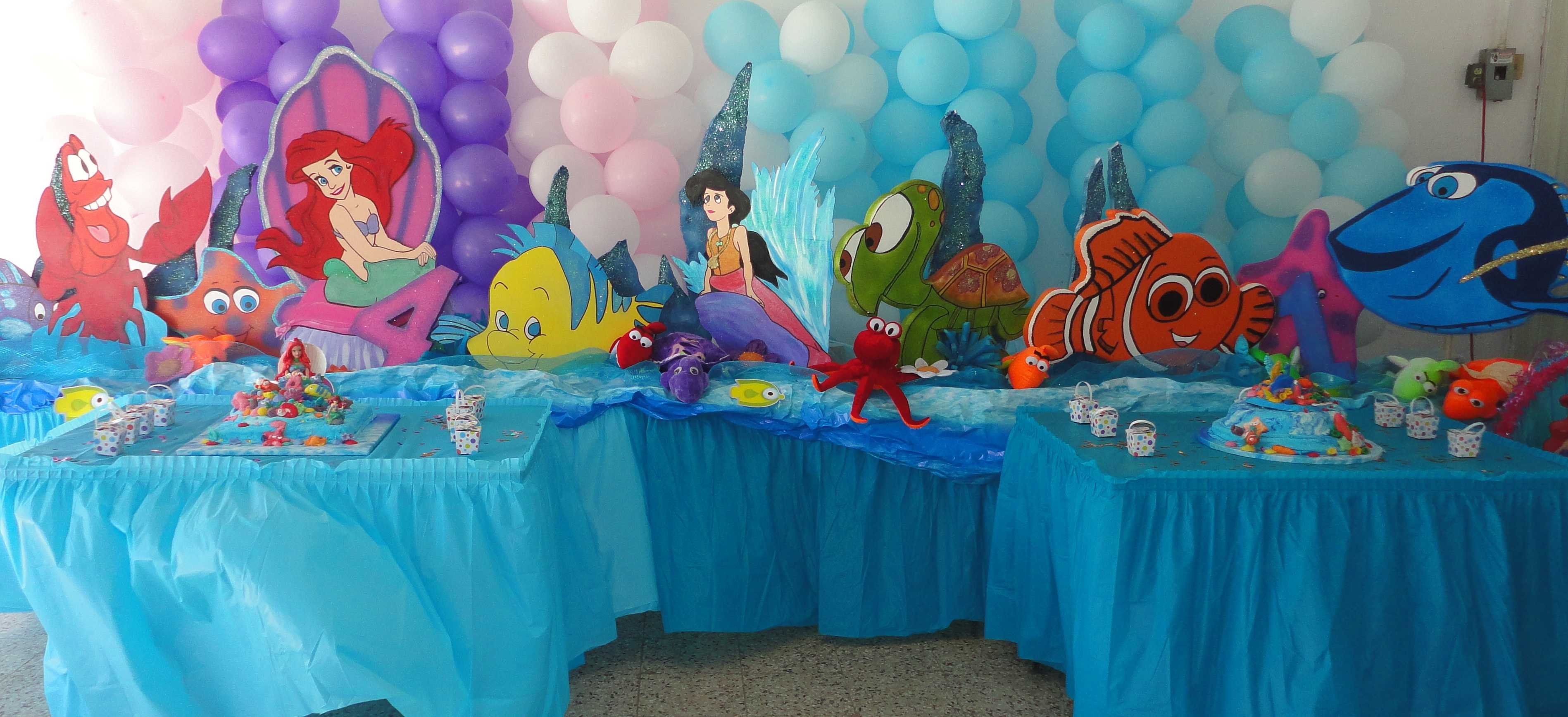 Adorable decorations disney little mermaid ariel 3 ft for Ariel birthday party decoration ideas