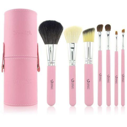 professional 7pcs cosmetic makeup brush kits set pink