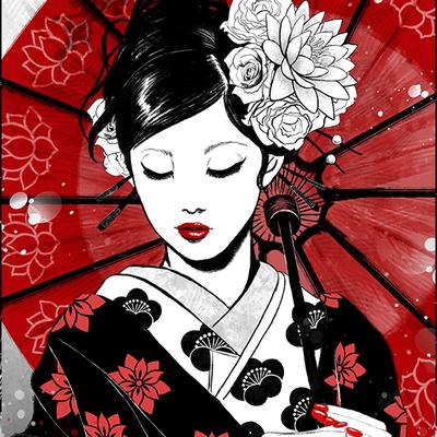 images geisha art
