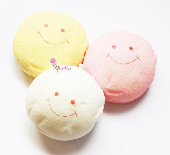Squishy Jumbo Marshmallow : Jumbo Marshmallow Bun Squishy (Smiley Faces) ? Uber Tiny ? Online Store Powered by Storenvy