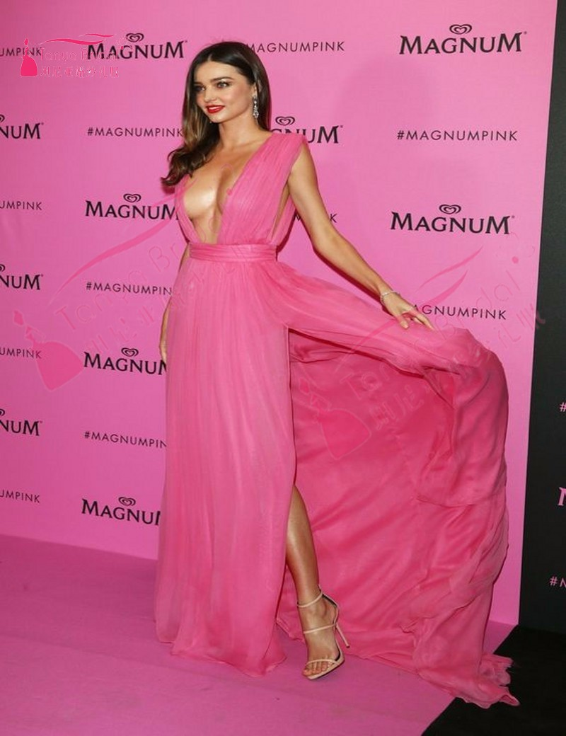 Sexy Inspired by Miranda Kerr V Neck Chiffon Long Evening Prom ...