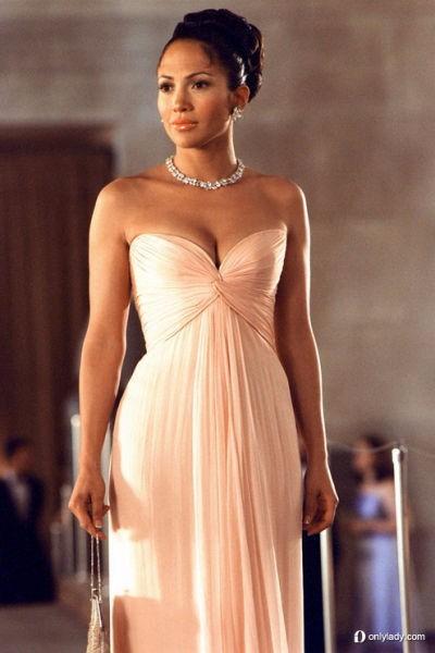 Best Selling Simple Prom Dress Jennifer Lopez Pearl Pink dress maid ...