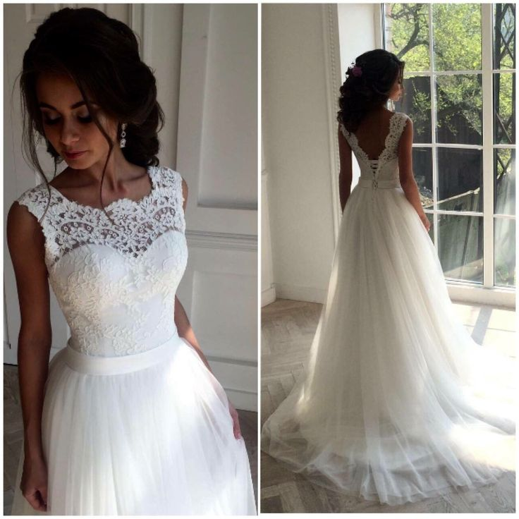 S128 Ivory Long Lace Wedding Dresses,Handmade Backless Lace Up ...