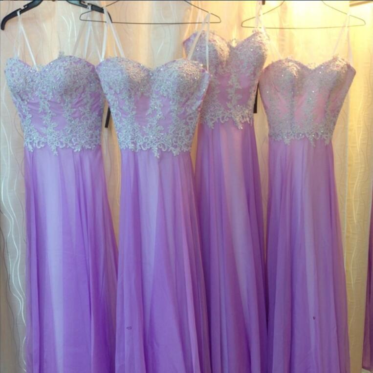 Xp331 Prom Dress New Cheap A Line Chiffon Purple Evening Dresses