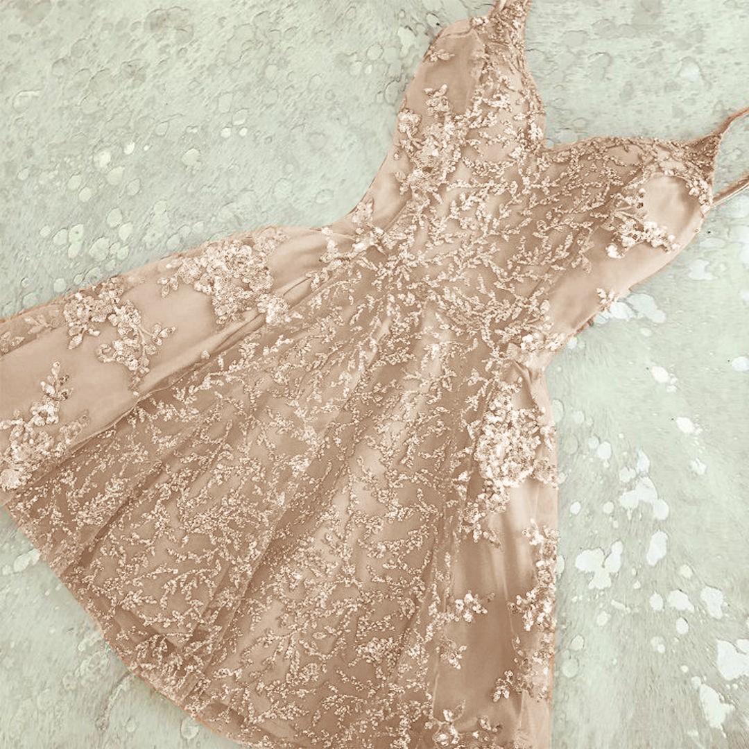 Champagne Short Prom Dresses