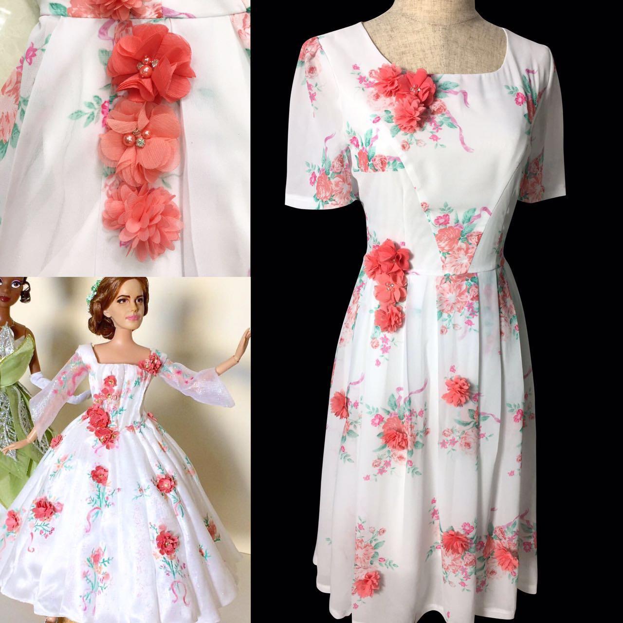 Bm31 belle 2017 white dress celebration dress disneybound chiffon bm31 belle 2017 white dress celebration dress disneybound chiffon dress with flower thumbnail 2 mightylinksfo