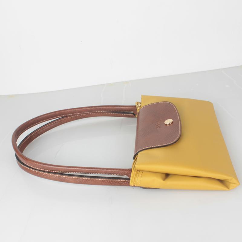 Discount Portable Longchamp Le Pliage Hobo Bag Curry