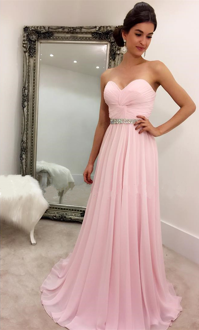 Baby Pink Prom Dress, Prom Dresses,Graduation Party Dresses, Prom ...