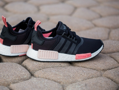 fashion nmd runner w black pink women's casual shoes on