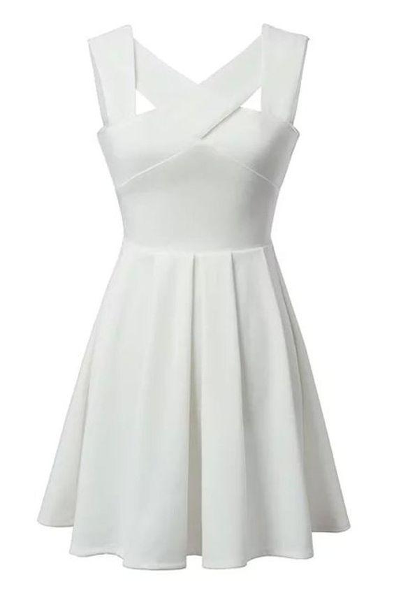 White Homecoming Dress,Short Party Dress,Formal Dress,Short Prom ...