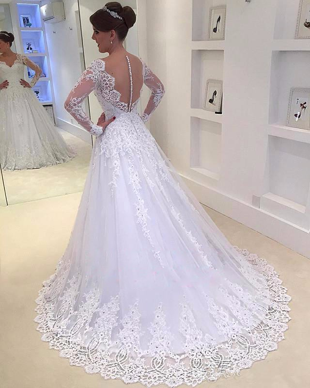 Online Sell Wedding Dress with Sleeves,Dresses For Brides,Bridal ...