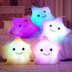 Cute Kawaii Colorful Light-Up Star Pillow Cushion (5 Colors) on Storenvy