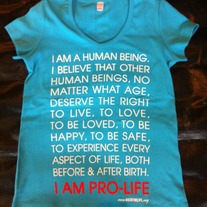 I AM PRO-LIFE Maternity Short Sleeve V-neck T-shirt Turquoise