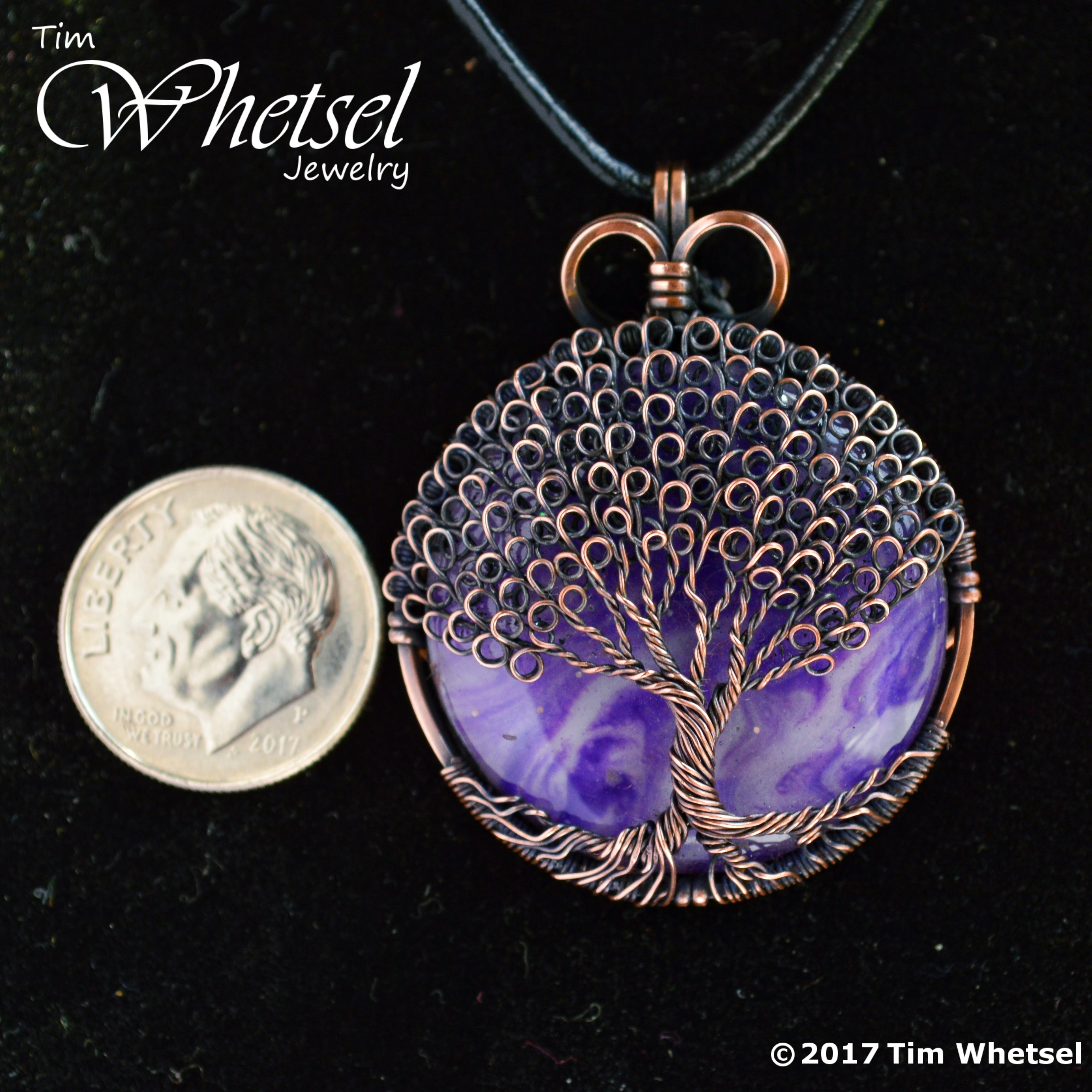 Purple Orgone - Copper Tree of Life Pendant - Loop Leaves - Wire ...