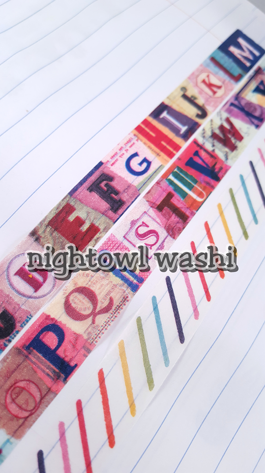 Scrapbook Letters Washi Nightowl Washi Online Store Powered By