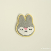 Bunny Brooch Yellow Pin