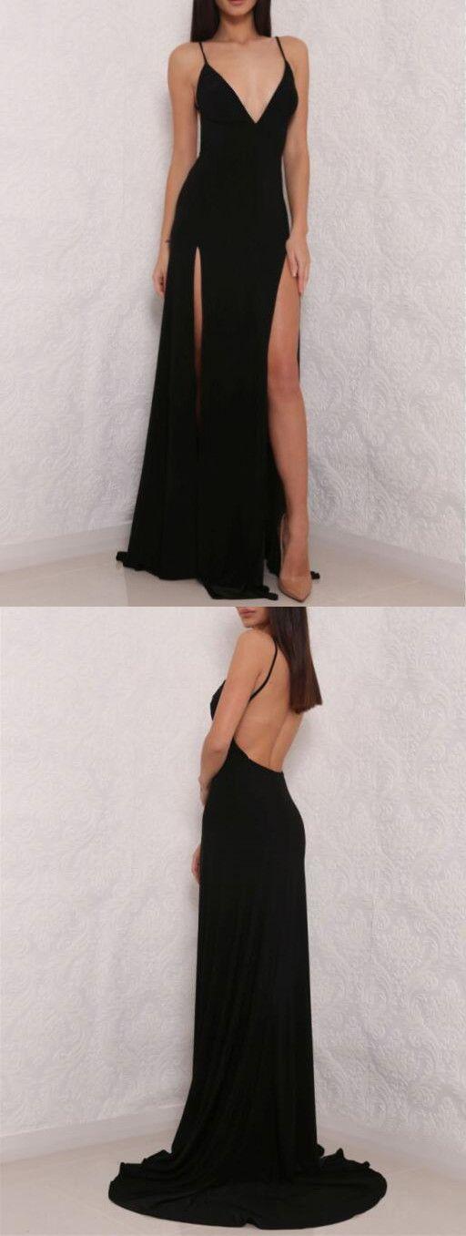 Black Prom Dress,Sleeveless Prom Dress,Simple Prom Dresses, Formal ...