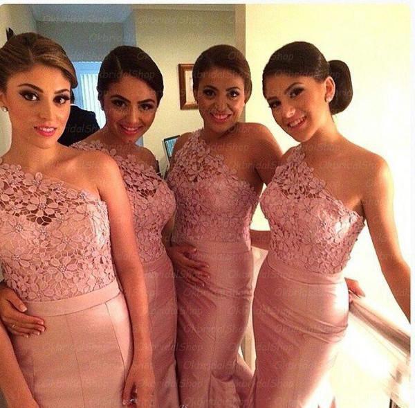 P389 lace bridesmaid dresses, mermaid bridesmaid dresses, long ...