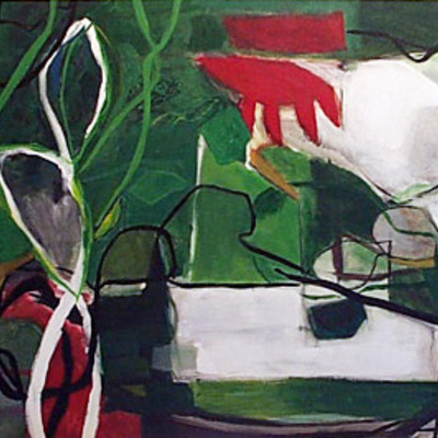 Bird's view (garden): abstract painting by frederick woodruff