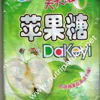 Dakeyi Green Apple Hard Candy 375g (13.25oz) Bag