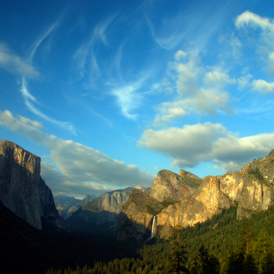 Yosemite valley cloudscape