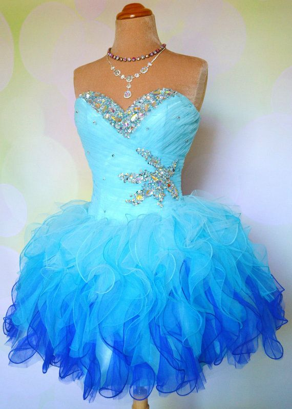 A386 Ball Gown Sweetheart Neck Tulle with Beaded Homecoming Dresses ...