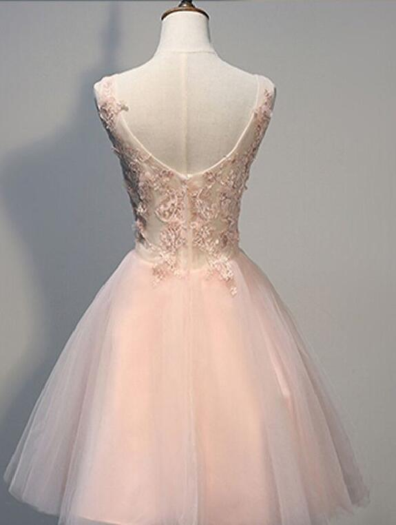 A430 Long sleeve lace homecoming dress, Lace short prom dress, Cute ...