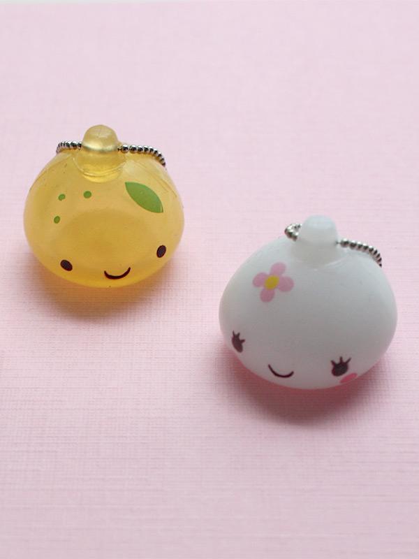 Kawaii Jewelry Onsen Manju Kun Squishy Charm Keychain