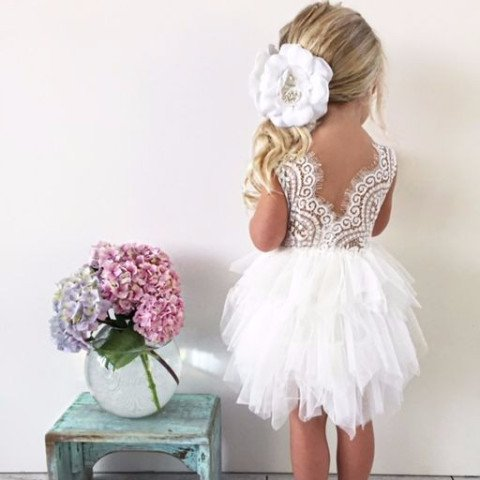 Princess short white flower girl dress modsele online store princess short white flower girl dress mightylinksfo