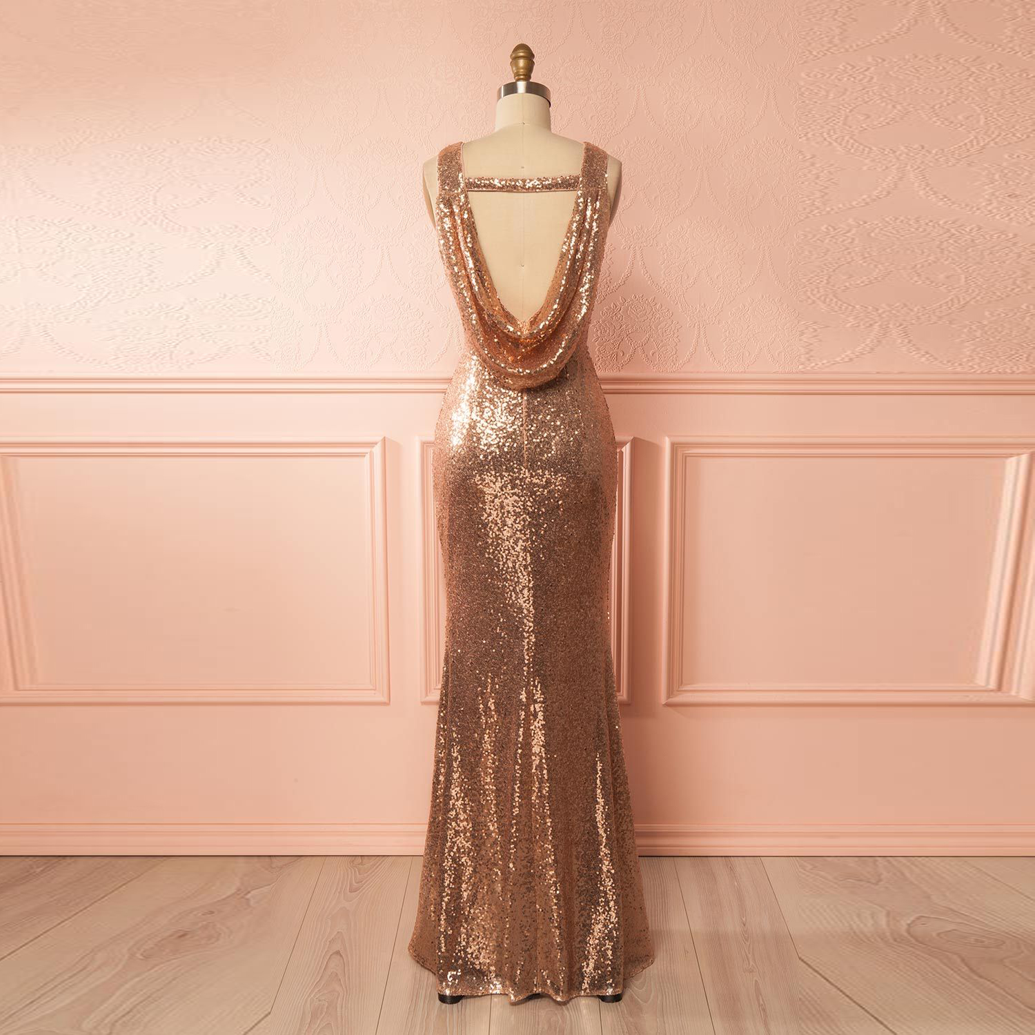 Rose Gold Prom Silvers: 2018 Rose Gold Sequin Sleeveless Mermaid Prom Dress,Formal